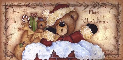 Ho Ho Ho Merry Christmas Fine Art Print By Mary