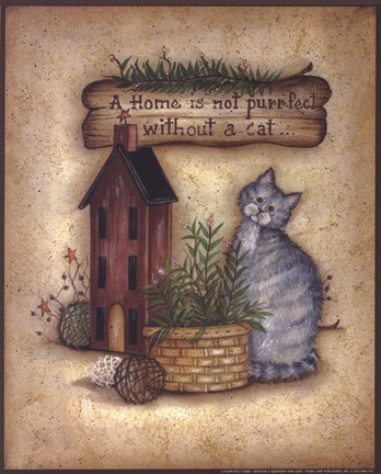 A Purr Fect Home Fine Art Print By Mary Ann June At