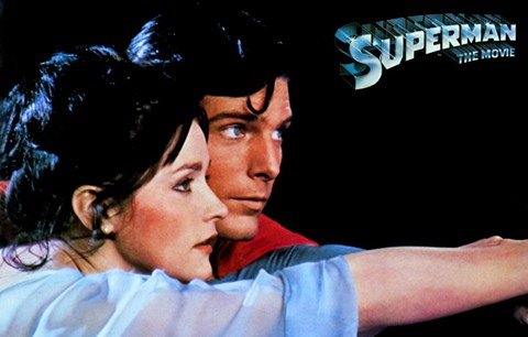 Framed Superman: The Movie Romantic Print