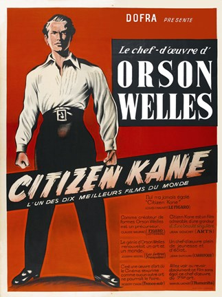 Framed Citizen Kane Red Print