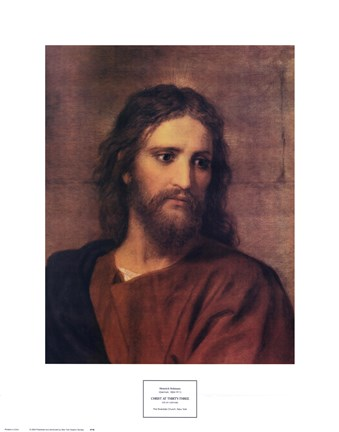 Framed Christ at Thirty- Three Print