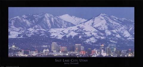 Framed Salt Lake City, Utah Print