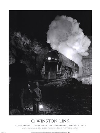 Framed Montgomery Tunnel Near Christiansburg, Virginia, 1957 Print