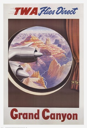 Framed TWA to the Grand Canyon Print