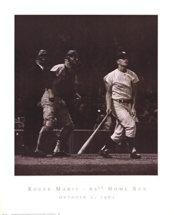 Roger Maris 61st Home Run Fine Art Print By Herb