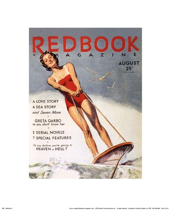 Framed Redbook IV, August 1933 Print