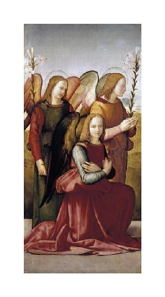 Framed Angels of The Annunciation Print