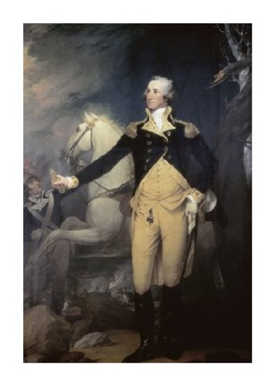Framed Portrait of General George Washington Print