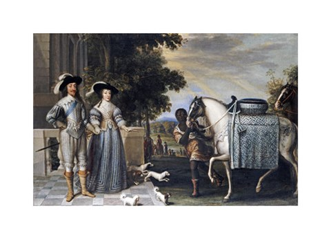 Framed King Charles I and Queen Henrietta Maria Print