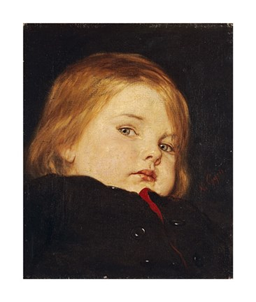 Framed Portrait of a Child Print
