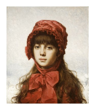 Framed Red Bonnet Print