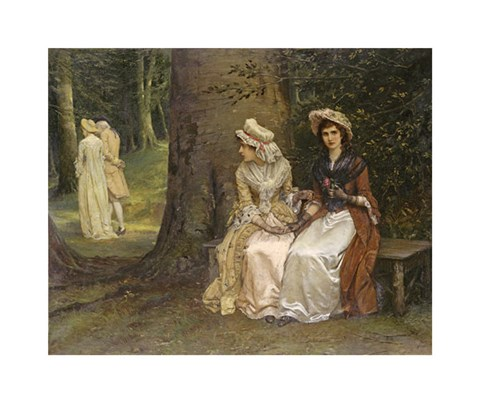 Framed Unrequited Love - a Scene From Much Ado About Nothing Print