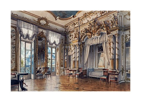 Framed Bedroom In The Tzar's Palace, St. Petersburg Print