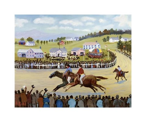 Framed Horse Races Print