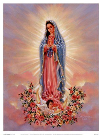 Our Lady Of Guadalupe Fine Art Print By Dona Gelsinger At