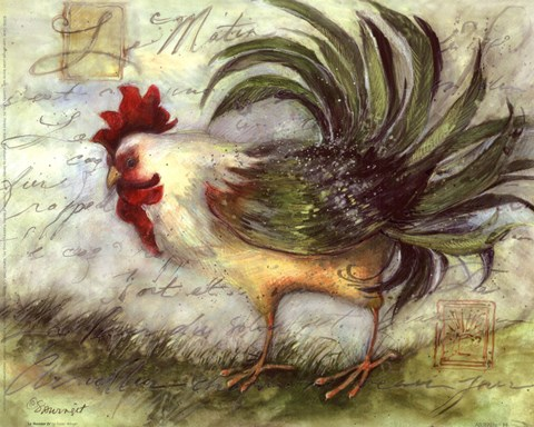 Le Rooster Iv Fine Art Print By Susan Winget At