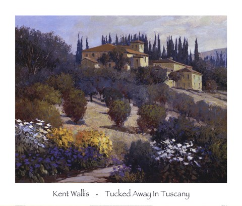 Framed Tucked Away In Tuscany Print