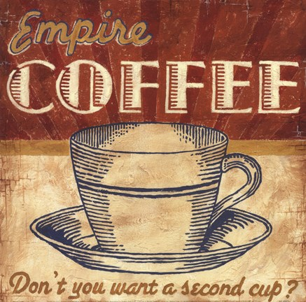Empire Coffee Fine Art Print by Ted Zorns at FulcrumGallery.com