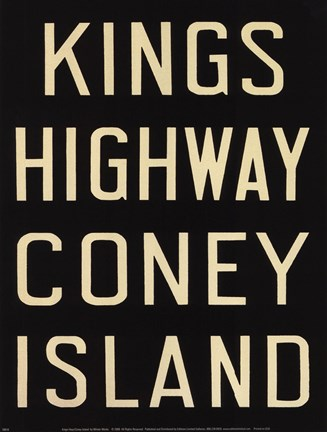 Framed Kings Hwy/Coney Island Print