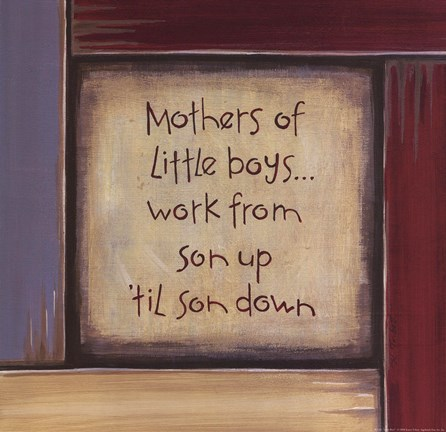 Framed Mothers of Little Boys Print