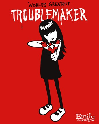 5433409dab Emily the Strange - Trouble Maker Wall Poster by Unknown at ...