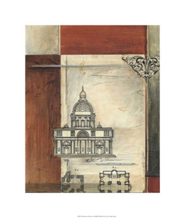 Framed Architectural Measure II Print