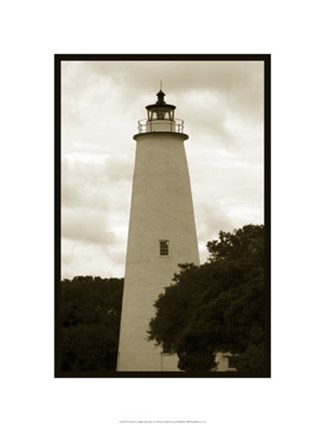 Framed Ocracoke Island Lighthouse Print