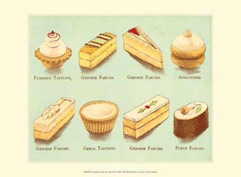 Framed Fanciful Cakes & Tarts II Print