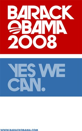 Barack Obama Yes We Can Logo Campaign Poster Wall Poster By Unknown At Fulcrumgallery Com
