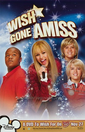 Framed Hannah Montana - Miley Cyrus - Wish Gone Amiss - style D Print