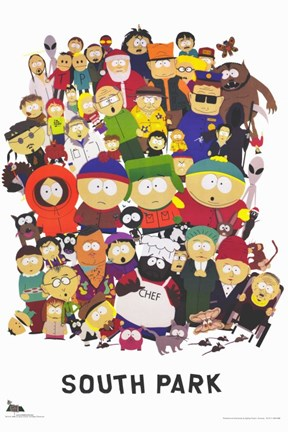 South Park Style A Fine Art Print By Unknown At Fulcrumgallery Com