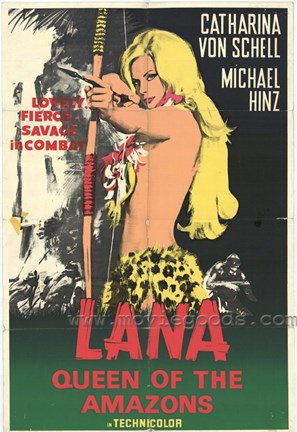 Framed Lana Queen of the Amazons, c.1967 Print
