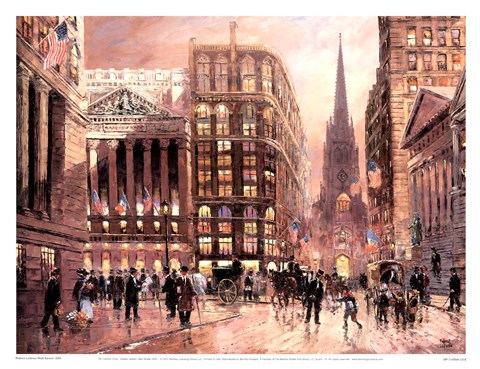 Wall Street 1890 Fine Art Print By Robert Lebron At