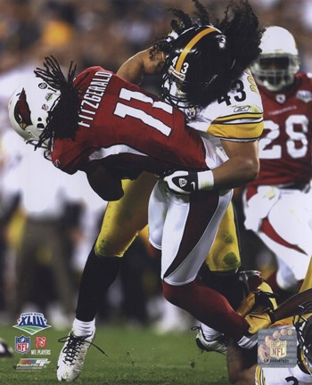 Framed Troy Polamalu - Super Bowl XLIII - #3 Print