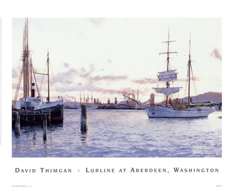 Framed Lurline At Aberdeen, Washington Print