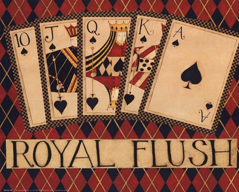 Framed Royal Flush Print
