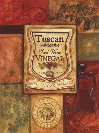 Framed Tuscan Vinegar Print