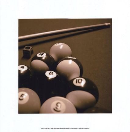 Framed Pool Table II   Sepia Print
