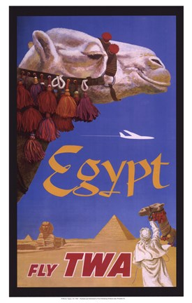 Framed Egypt - Fly TWA Print