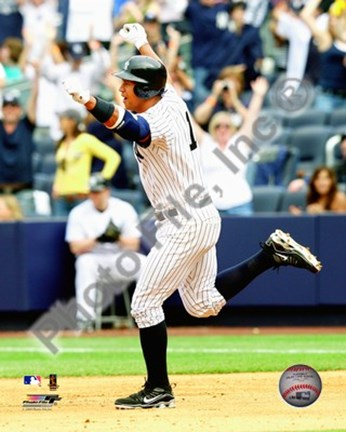 Framed Alex Rodriguez 2009 H.R. Celebration Print