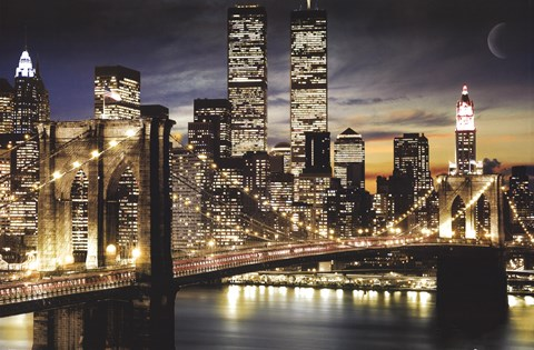 Framed New York City Lights Print