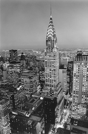 New York, New York, Chrysler Building at Night Wall Poster by Henri ...