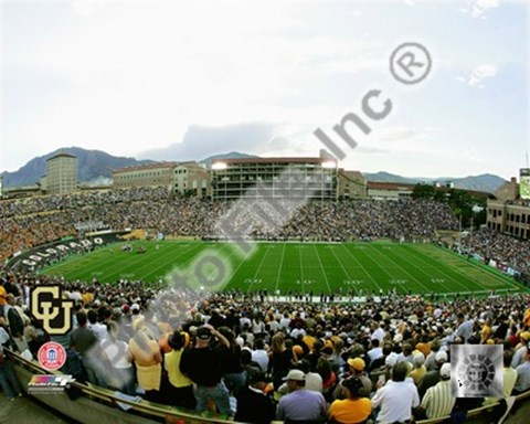 Framed Folsom Field University of Colorado Buffaloes 2004 Print