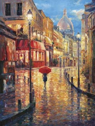 Framed Montmartre Evening Print
