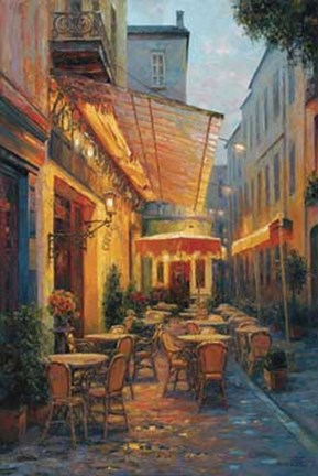 Framed Cafe Van Gogh, Arles France Print