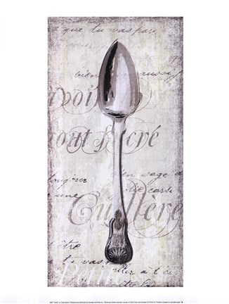 Framed Decoative Spoon Print