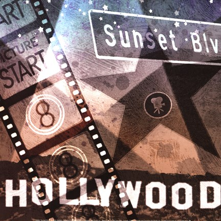 Framed Sunset Blvd Print