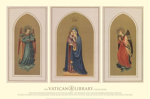 Framed Madonna and Child Triptych, (The Vatican Collection) Print
