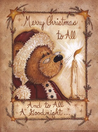 Merry Christmas To All Fine Art Print By Mary Ann June At Fulcrumgallery Com