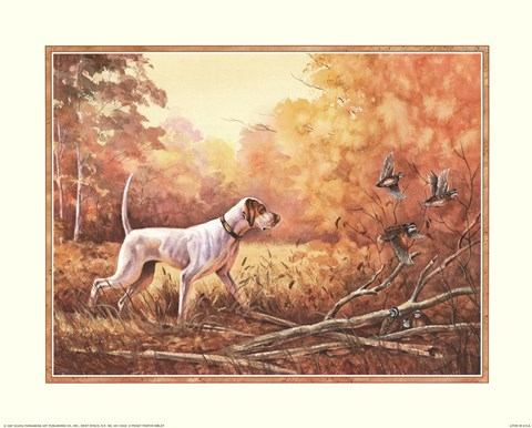 Framed Hunting Dog Print